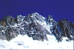 Whympercouloir seen from our bivouac place