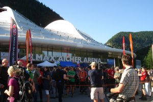 Start am Eisstadion in Inzell