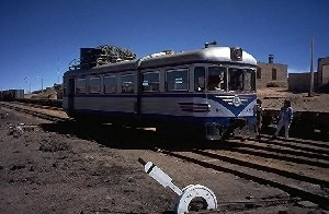 Train 'station', somewhere in the nowhere of the Altiplano.