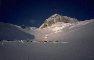 Camp 11000 is situated below the West Buttress.