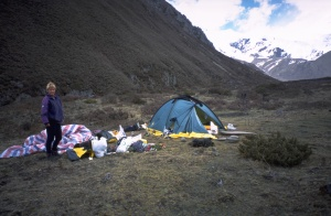 Cleaning up in the base camp