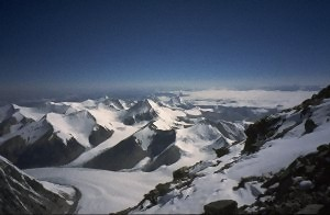 View from about 7900 m