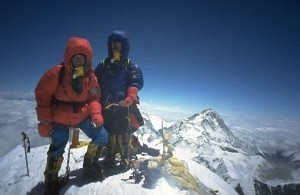 Hartmut and Claudia on the summit