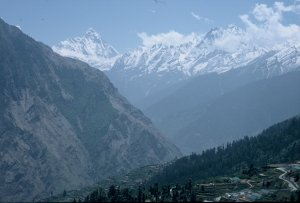 View from Auli to Nanda Devi (7816 m)