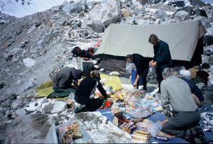 in base camp, 4700 m