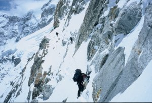 In the steep traverse