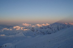 The shadow of Elbrus reaches far into the country