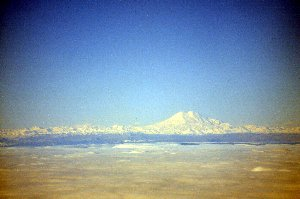 Elbrus seen from the plane