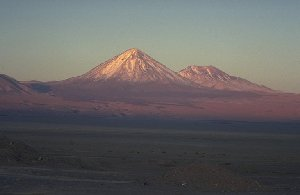 Volcano Licancabur seen from San Pedro
