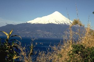 Volcano Osorno seen from lago Llanquihue