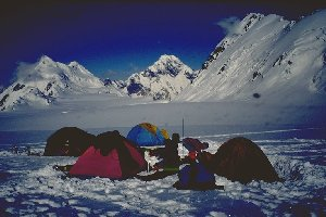 Camp on Pamir plateau, 5900 m