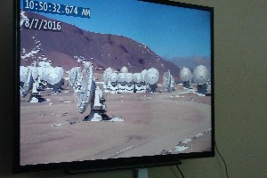 The telescope area can be seen only on the screen