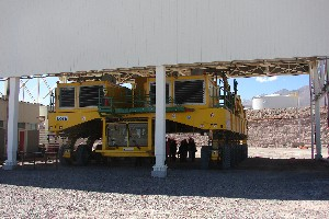 Transport vehicle for the telescopes