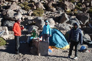Campsite at Cerro Colorado: Outdoor dinner