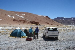 Base camp at Acamarachi (Pili), 4575 m