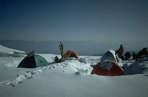 Camp 3 at 6050 m altitude