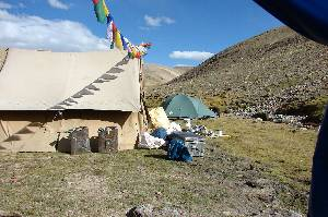 our basecamp at 5315 m