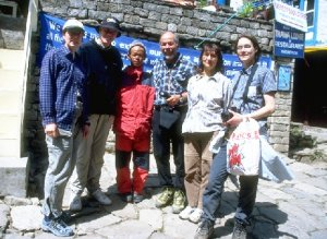 meeting Peter Hillary in Namche